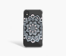 Load image into Gallery viewer, Navy Mandala Clear iPhone Case