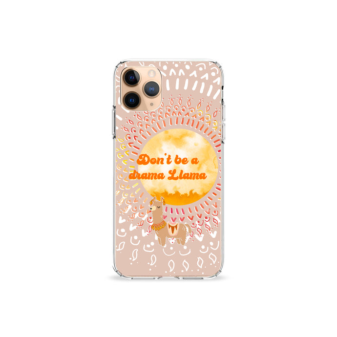 Drama Llama Clear iPhone Case