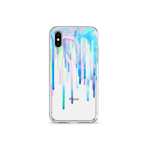 Neon Drips Clear iPhone Case - bycsera