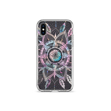 Load image into Gallery viewer, Feather Mandala Clear iPhone Case - bycsera