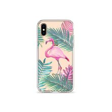 Load image into Gallery viewer, Flamingo Tango Clear iPhone Case