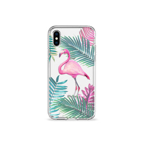Flamingo Tango Clear iPhone Case