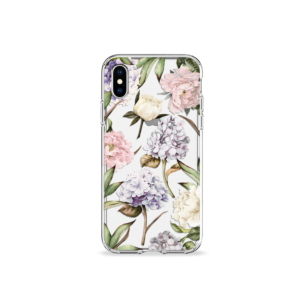 Hydrangeas Clear iPhone Case - bycsera