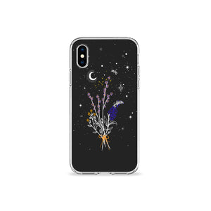 Lavender Moon Clear iPhone Case - bycsera