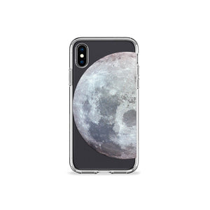 Waning Moon Clear iPhone Case - bycsera