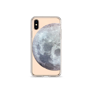 Waning Moon Clear iPhone Case,CSERA