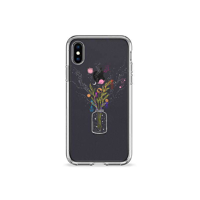 Galaxy In A Bottle Clear iPhone Case,CSERA