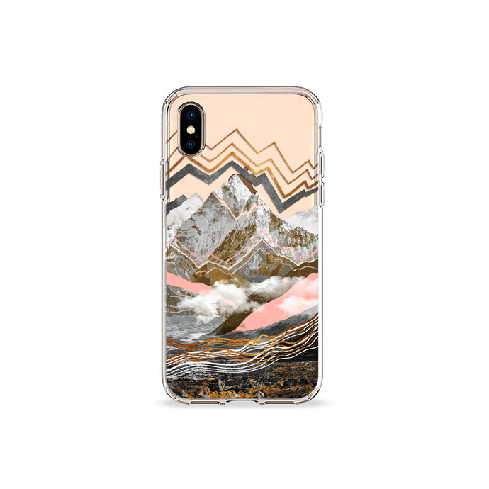 Gold Mountain Clear iPhone Case,CSERA