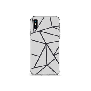Grey Iso Clear iPhone Case - bycsera