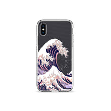 Load image into Gallery viewer, Great Wave Off Kanagawa Clear iPhone Case - bycsera