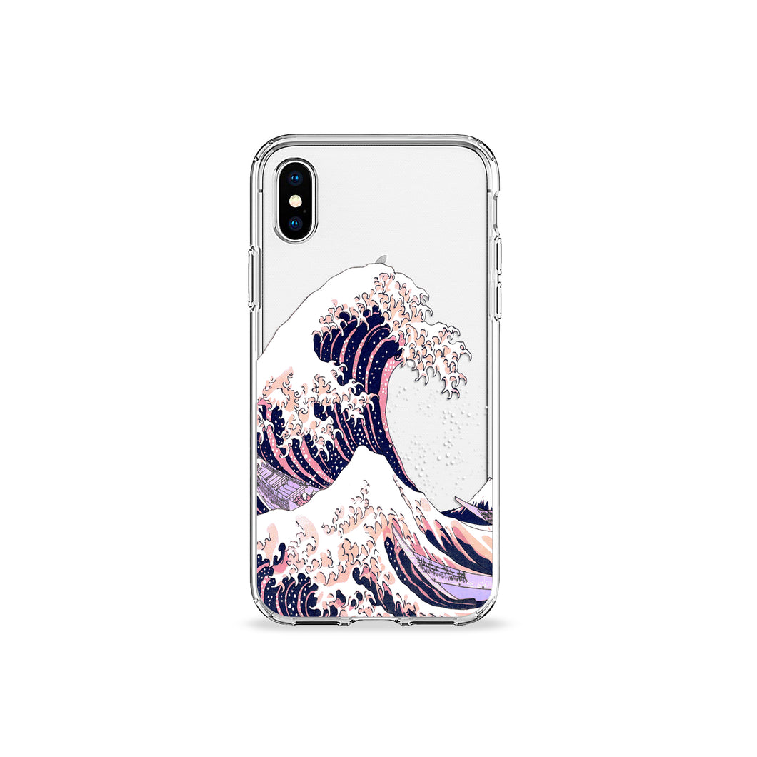 Great Wave Off Kanagawa Clear iPhone Case - bycsera