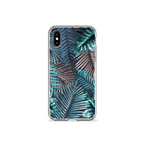 Emerald Palms Clear iPhone Case
