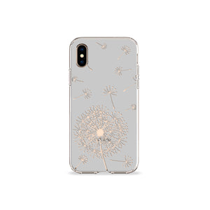 Dandelion Grey Clear iPhone Case,CSERA