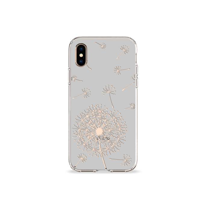 Dandelion Grey Clear iPhone Case - bycsera