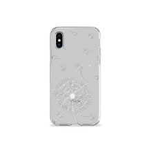 Load image into Gallery viewer, Dandelion Grey Clear iPhone Case,CSERA