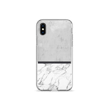Load image into Gallery viewer, Grey Marble Clear iPhone Case