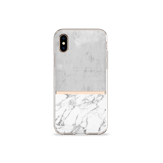 Grey Marble Clear iPhone Case,CSERA