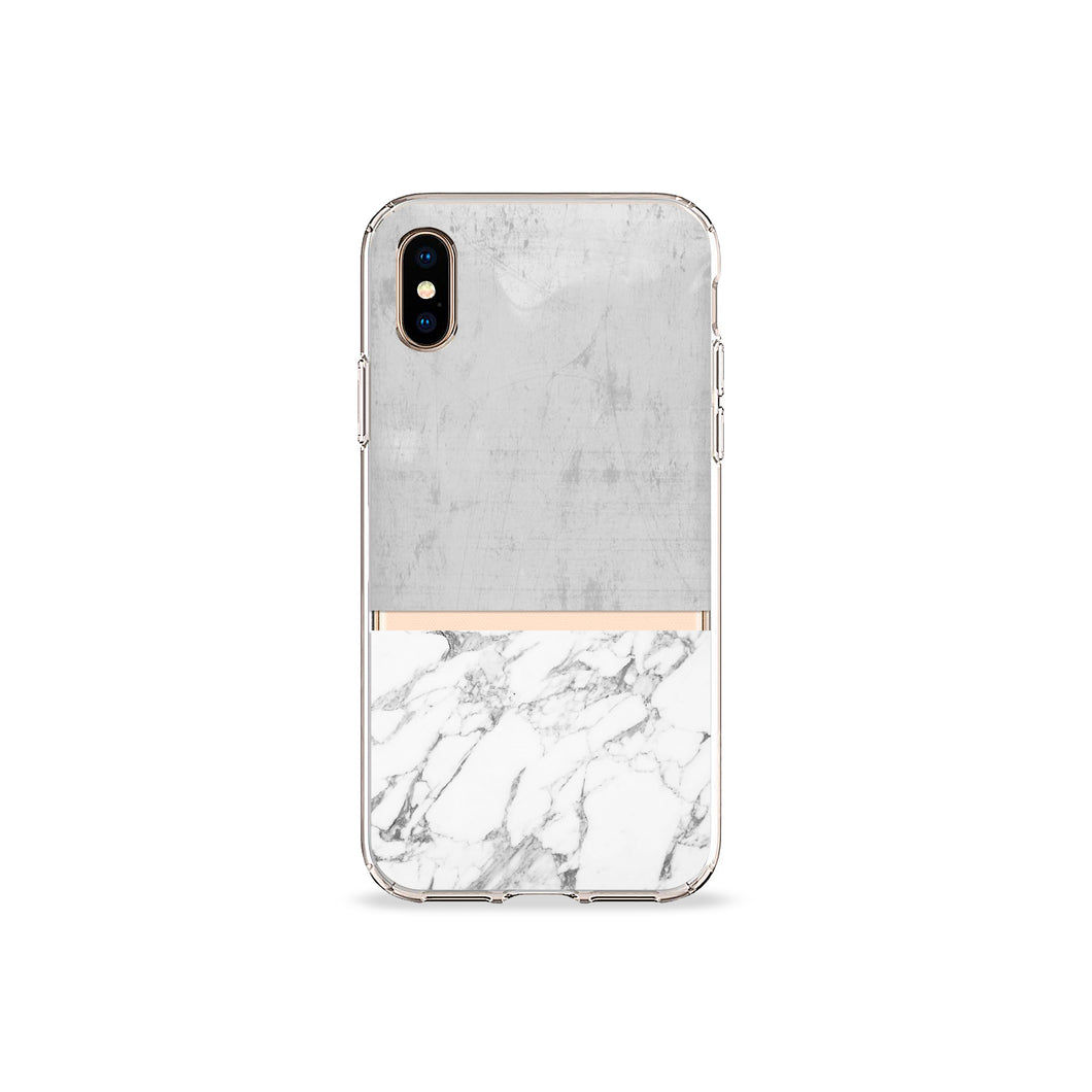 Grey Marble Clear iPhone Case
