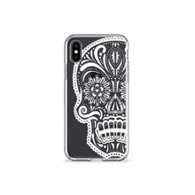 Load image into Gallery viewer, White Skull Clear iPhone Case - bycsera