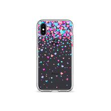 Load image into Gallery viewer, Confetti Hearts Clear iPhone Case - bycsera