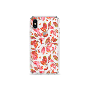 Fall Leaves Clear iPhone Case,CSERA