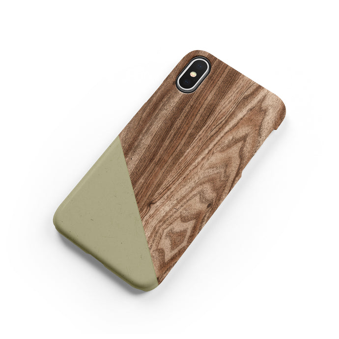 Khaki Wood Snap iPhone Case - bycsera