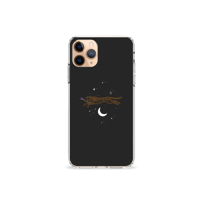 Leopard Moon Clear iPhone Case,CSERA
