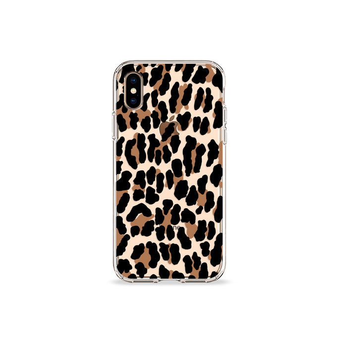 Leopard Print Clear iPhone Case - bycsera