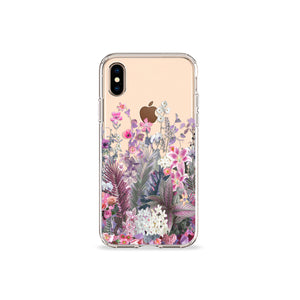Lavender Bouquet Clear iPhone Case - bycsera