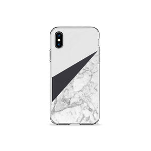 White Marble Clear iPhone Case - bycsera