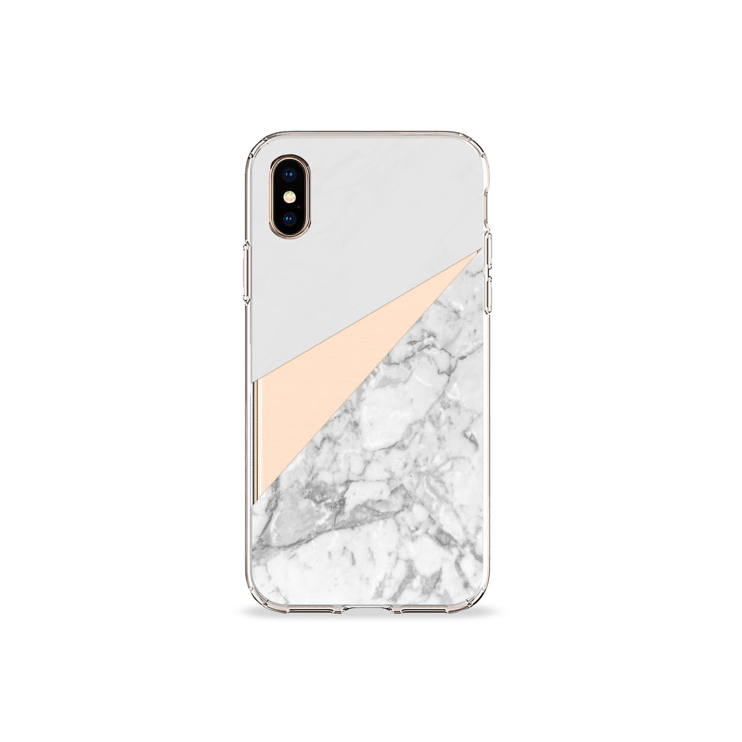 White Marble Clear iPhone Case,CSERA