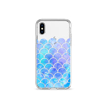 Load image into Gallery viewer, Blue Mermaid Clear iPhone Case,CSERA