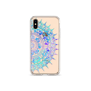 Midnight Mandala Clear iPhone Case,CSERA