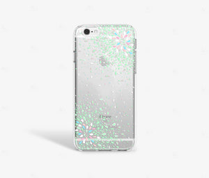 Green Confetti Clear iPhone Case - bycsera