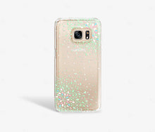 Load image into Gallery viewer, Green Confetti Clear iPhone Case - bycsera