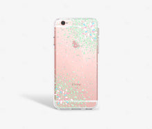 Load image into Gallery viewer, Green Confetti Clear iPhone Case,CSERA
