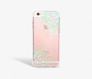 Green Confetti Clear iPhone Case,CSERA