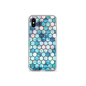 Mint Hex Clear iPhone Case - bycsera