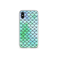 Load image into Gallery viewer, Mint Mermaid Clear iPhone Case