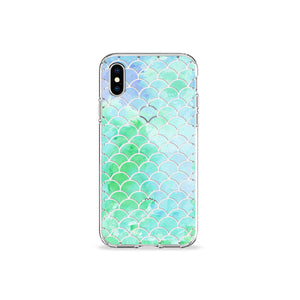 Mint Mermaid Clear iPhone Case