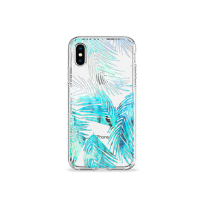 Mint Leaves Clear iPhone Case - bycsera