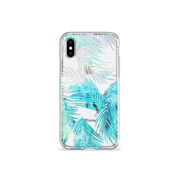 Mint Leaves Clear iPhone Case