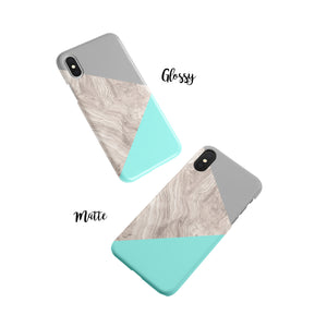 Turquoise Snap iPhone Case