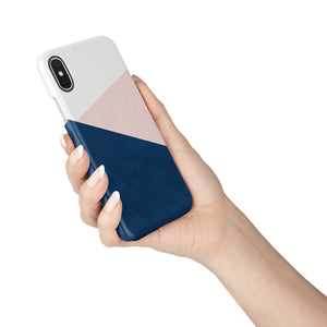 Navy and Blush Snap iPhone Case - bycsera