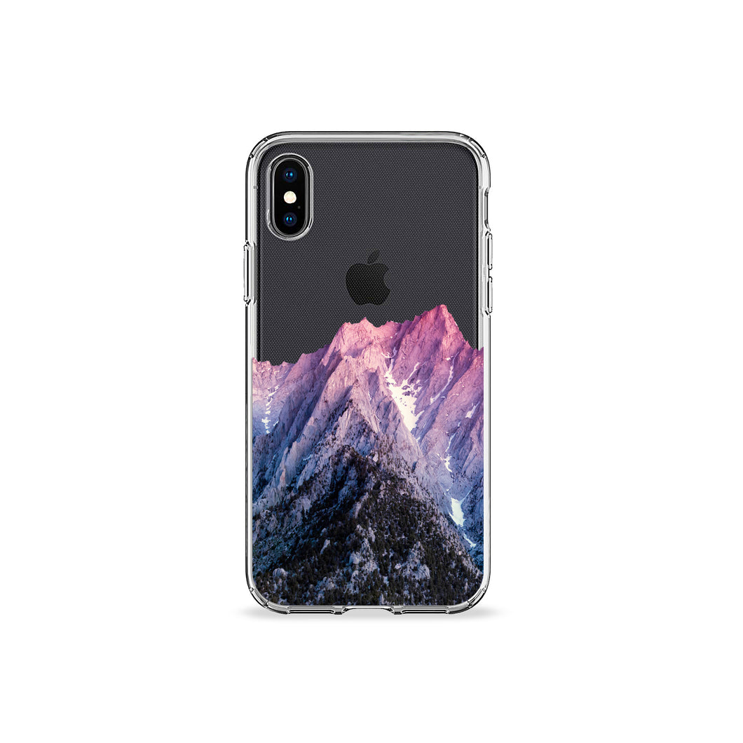 Mountain View Clear iPhone Case,CSERA