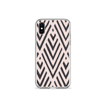 Load image into Gallery viewer, Taupe Art Deco Clear iPhone Case,CSERA