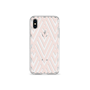 Taupe Art Deco Clear iPhone Case,CSERA