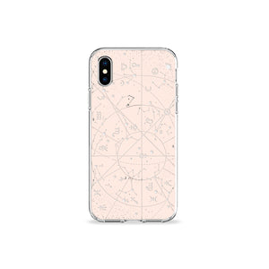 Desert Constellation Clear iPhone Case