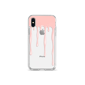 Nude Drips Clear iPhone Case - bycsera