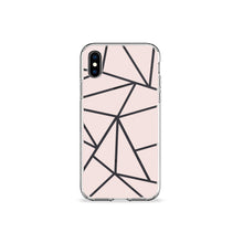 Load image into Gallery viewer, Dusty Rose Geo Clear iPhone Case - bycsera